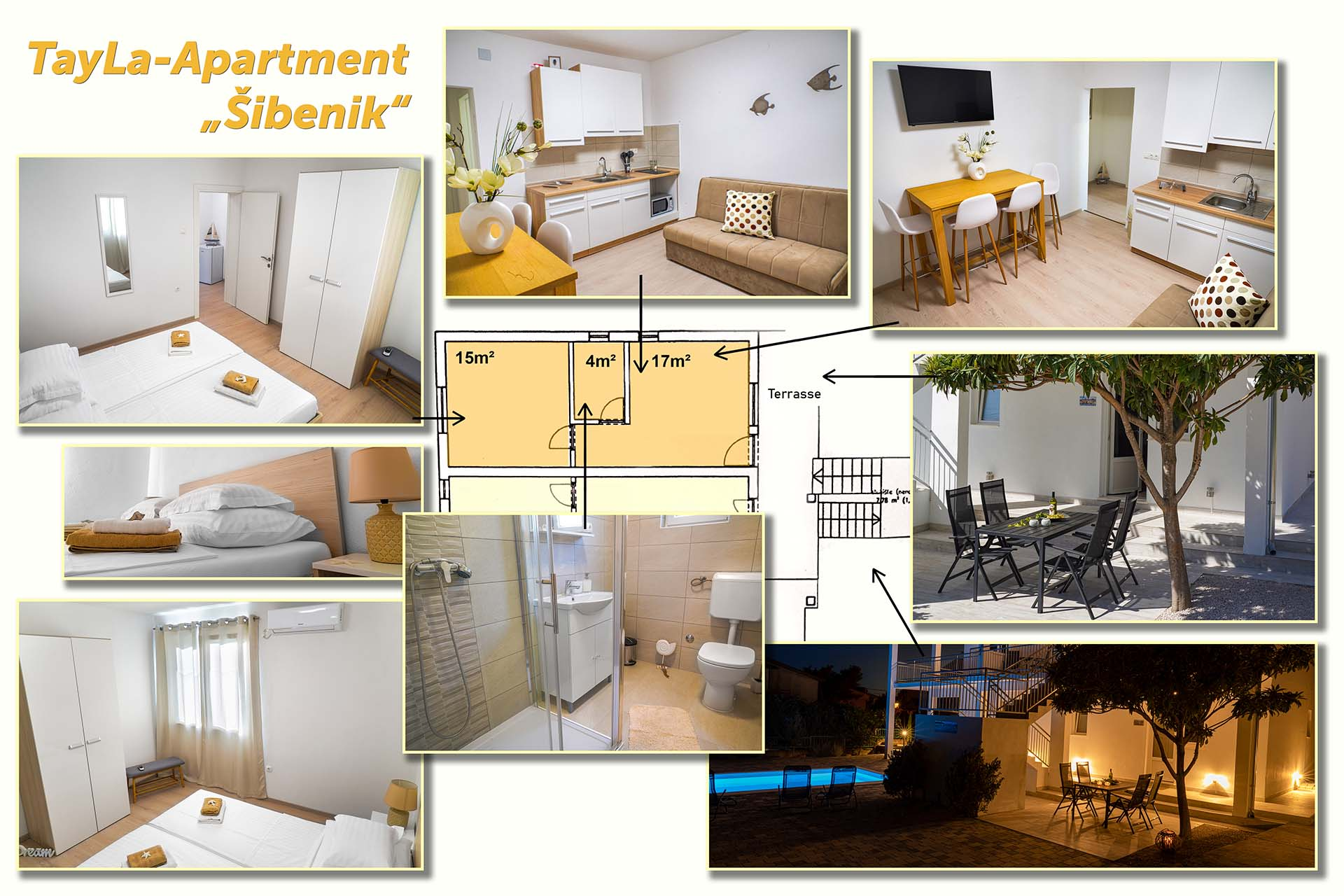 "Collage TayLa-Apartment ""Sibenik"""
