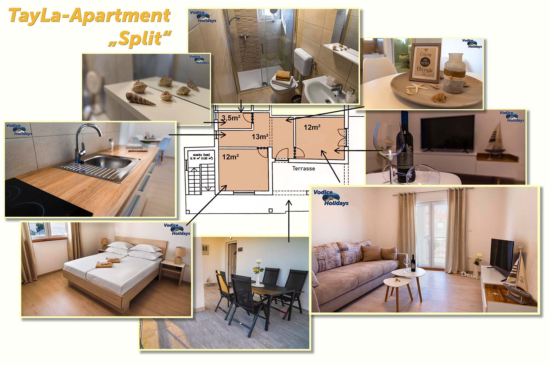 "Collage TayLa-Apartment ""SPLIT"""